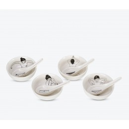 Pols Potten Undressed porcelain tea cups set of 4; nice present
