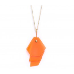 Facets 2.10 Necklace with an orange pendant from Turina Jewellery