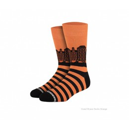 Canal house socks from Heroes on Socks orange - a great gift for him