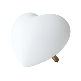 Lamp Lia heart shaped - LED light at amstory.nl