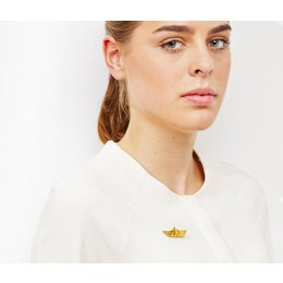 Origami Boat Brooch from Turina Jewellery at shop.holland.com