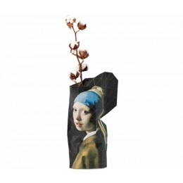 Paper Vase Cover - Girl with a Pearl Earring by Vermeer