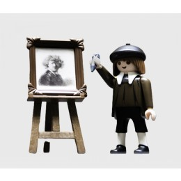 Rembrandt Playmobil figure from the Rijksmuseum at shop.holland.com