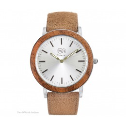 TWO-O Wooden watch Jordaan – Zebrano, stainless steel and suede at shop.holland.com