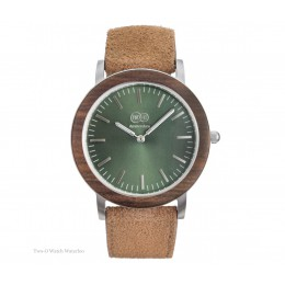 TWO-O Wooden watch Waterloo – Walnut, stainless steel and suede at shop.holland.com