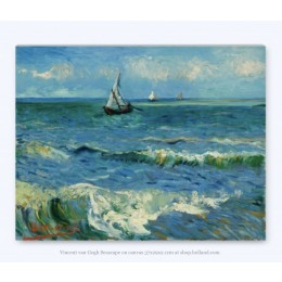Vincent Van Gogh Seascape on Canvas 29x37cm at shop.holland.com - the webshop for Dutch Design gifts and souvenirs