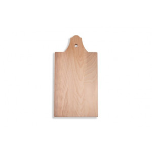 I amsterdam wooden serving tray with bell gable grip