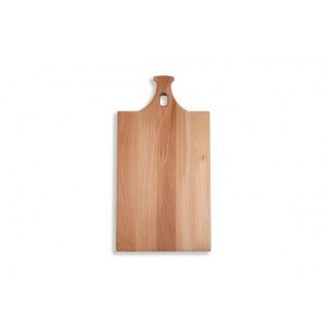 I amsterdam wooden serving tray with spout gable grip