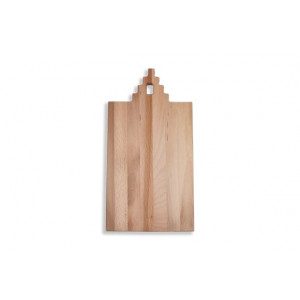 I amsterdam wooden serving tray with step gable grip