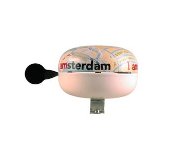 Ding-dong fietsbel, kaart van Amsterdam