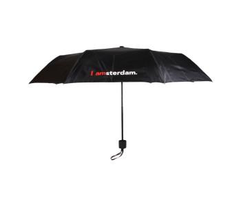 Kleine paraplu, opvouwbaar, 100 cm, zwart