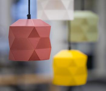 Trigami lampen zijn leuk te combineren
