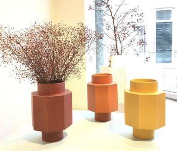 Spicy Jar vazen Pepper rood, Saffraan oranje, Kurkuma geel van Geke Lensink bij shop.holland.com