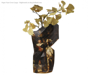 Paper Vase Cover Large - Nachtwacht door Rembrandt van Rijn bij shop.holland.com