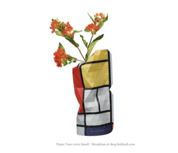 Paper Vase Cover Small - Compositie in rood door Piet Mondriaan koop je bij shop.holland.com