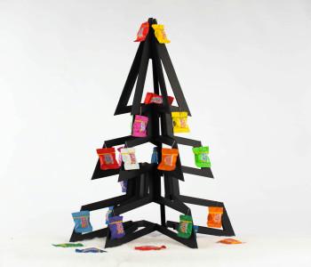 PaperTree Kerstboom Wit met Tiny Tony's versiering