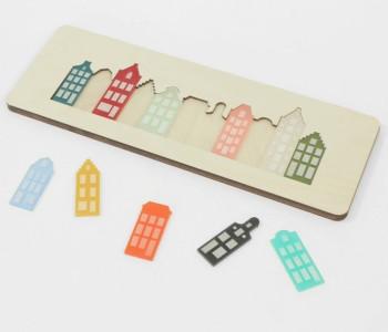Cre8 Amsterdam Puzzel van plexiglas en berkenhout - leuk cadeau voor kinderen
