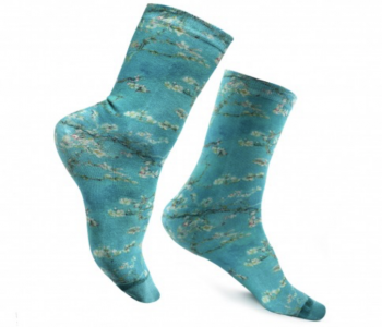 Van Gogh sokken Amandelbloesem bij shop.holland.com - origineel vaderdag cadeau