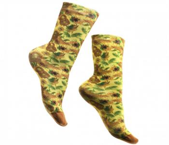 Vna Gogh sokken Zonnenbloemen - leuk voor vaderdag