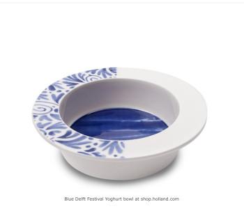 Delfts Blauw Yoghurtschaaltje Blauw Festival 16 cm ø koop je bij shop.holland.com