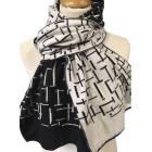 Wollen sjaal Mondriaan Pier & Oceaan