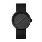 Piet Hein Eek horloge D38 van LEFF Amsterdam - zwart met zwart lederen band
