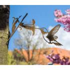 Metalbird Kolibrie metalen vogel silhouet