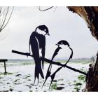 Metalbird Zwaluwen metalen vogel silhouet