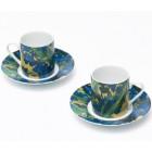 Van Gogh Espressokopjes Irissen - Set van 2