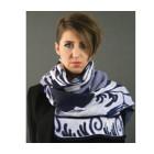 Zwierige sjaal Delfts blauw