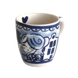 Delfts Blond Mini mok in blauw wit van Blond Amsterdam