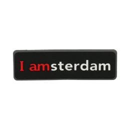I amsterdam 2D rubber magneet, zwart