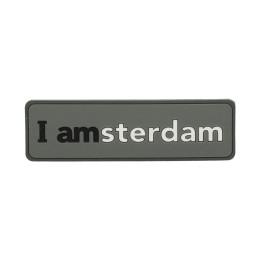 I amsterdam 2D rubber magneet, grijs