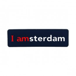 I amsterdam 2D rubber magneet, donkerblauw