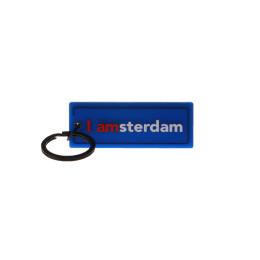 I amsterdam Rubber 2D keyhanger, blauw