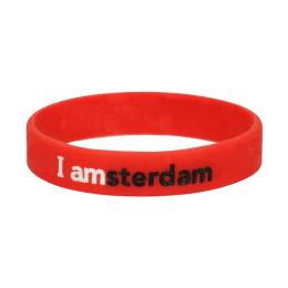 I amsterdam Siliconen armband, rood
