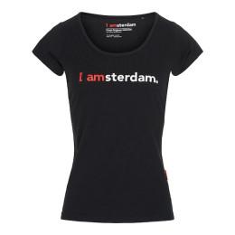 I amsterdam Ladies Classic T-shirt, zwart