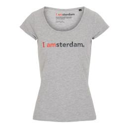 I amsterdam Ladies Classic T-shirt, grijs
