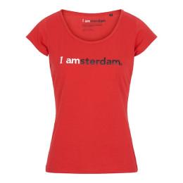 I amsterdam Ladies Classic T-shirt, rood