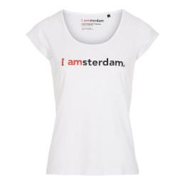I amsterdam Ladies Classic T-shirt, wit