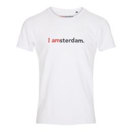 I amsterdam Men Classic T-shirt, wit
