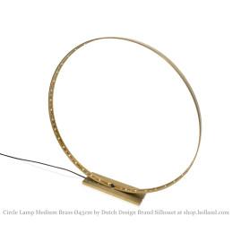 Circle M Led Lamp Messing 45 cm ø van Silhouet Lighting