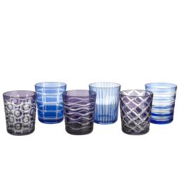 Pols Potten Waterglas gekleurd glas- set van 6, mooi cadeau