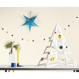 PaperTree Kerstboom van wit karton 70 cm hoog