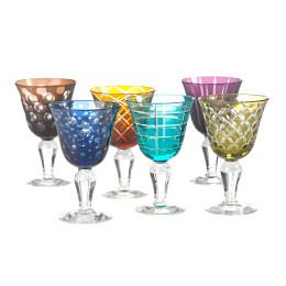 Pols Potten wijnglas van gekleurd glas; bijzonder kerst cadeau