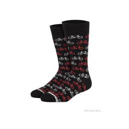 Fiets sokken van Heroes on Socks in zwart
