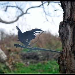 Metalbird metalen vogel Winterkoninkje