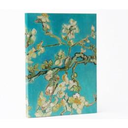 Gelijnd papier in Notitieboekje Van Gogh Amandelbloesem: handig relatiegeschenk