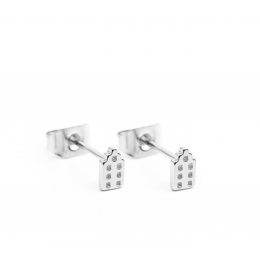 Oorstekers met een klein grachtenpandje van het merk Riverstones koop je bij shop.holland.com