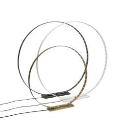 Circle lampen Large en vooraan medium in Messing